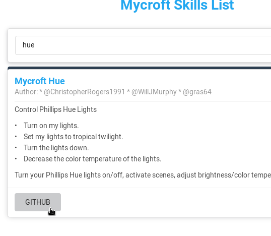 Setting up Phillips Hue on Mycroft mark 1 – including guide to basic
