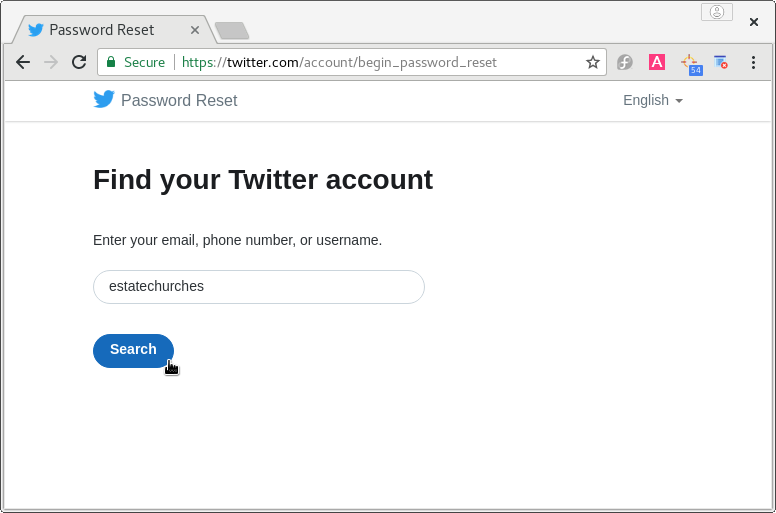 Twitter account access when you lost access to your email