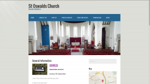 St Oswalds Church website - ongoinf project