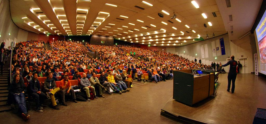 The Closing Keynote of Fosdem, gives you some idea of the scale of this event!