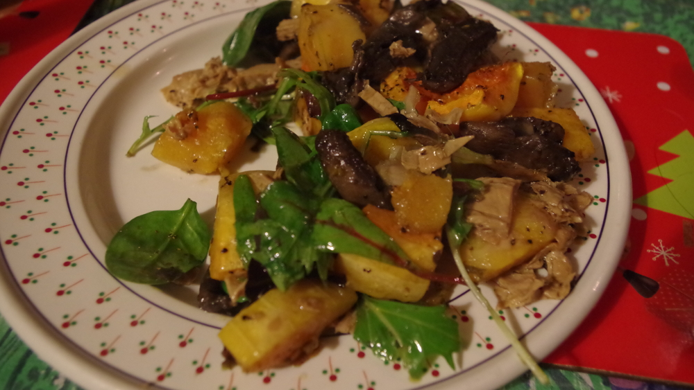 spinach_and_squash_salad_with_braised_tofu